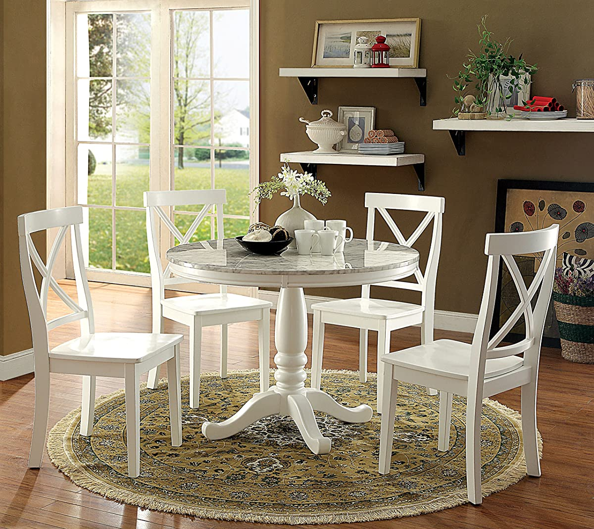 HOMES: Inside + Out IDF-3546RT Ollie Dining Table Cottage Round