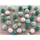 24Pcs Decorative Pushpins,Cork Board Tacks,Bulletin Board Tacks,Thumb Tack Decorative for CorkBoard, Office Organization or Home (Green) (Color: Green)