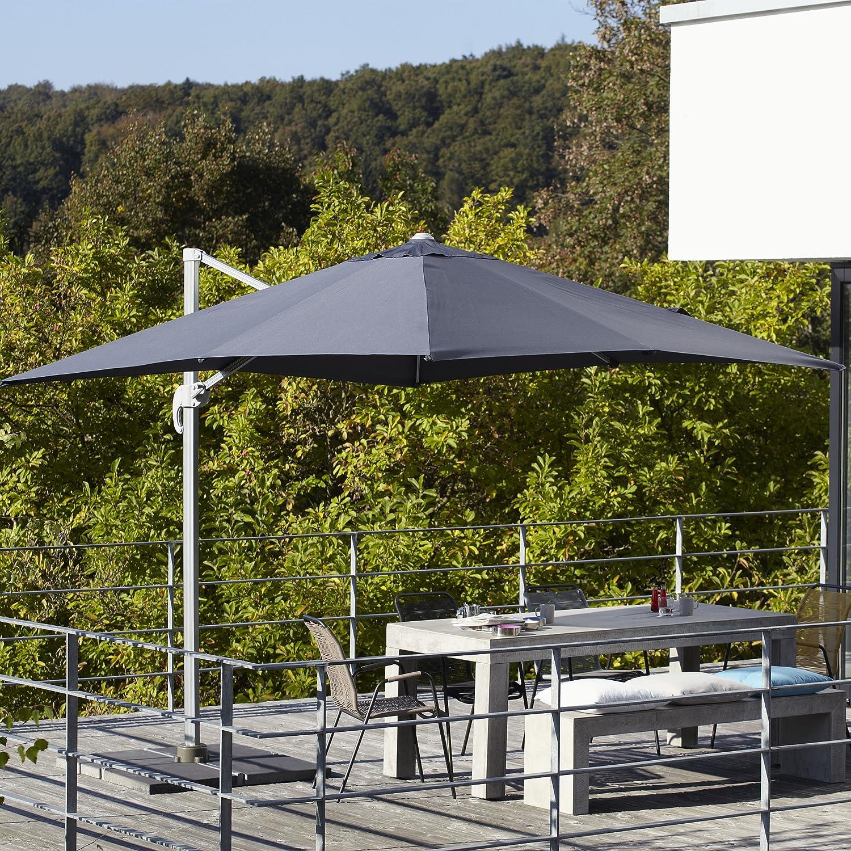 Ampelschirm inkl. Schirmständer 250 x 250 cm anthrazitgrau günstig kaufen