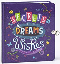 Peaceable Kingdom  Secrets Dreams and Wishes Glow in the Dark Lock amp Key Diary