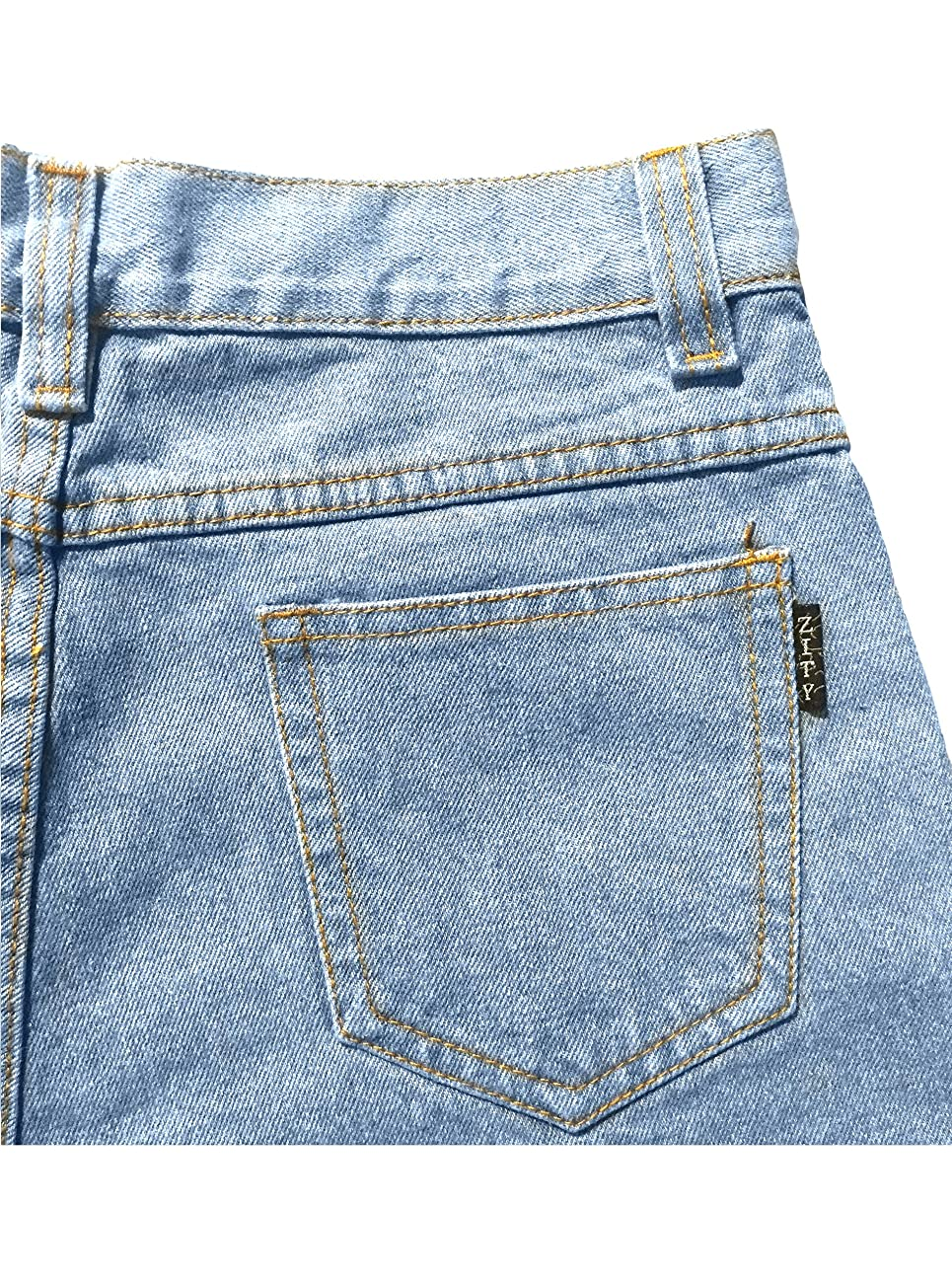 Zity Lady Women Retro Girl High Waisted Oversize Crimping Boyfriend Jeans Shorts Pant 5