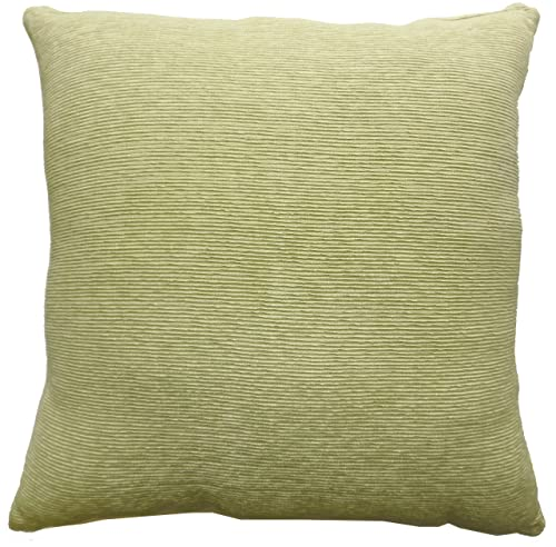 Cotton Craft - Agra Ribbed Decorative Floor Pillow - Green - 24 In Square - Other Colors - Spice, Blue and Plum - Lustrous Rayon surface - Handwoven by skilled artisans - Comfy 100% Poly fill