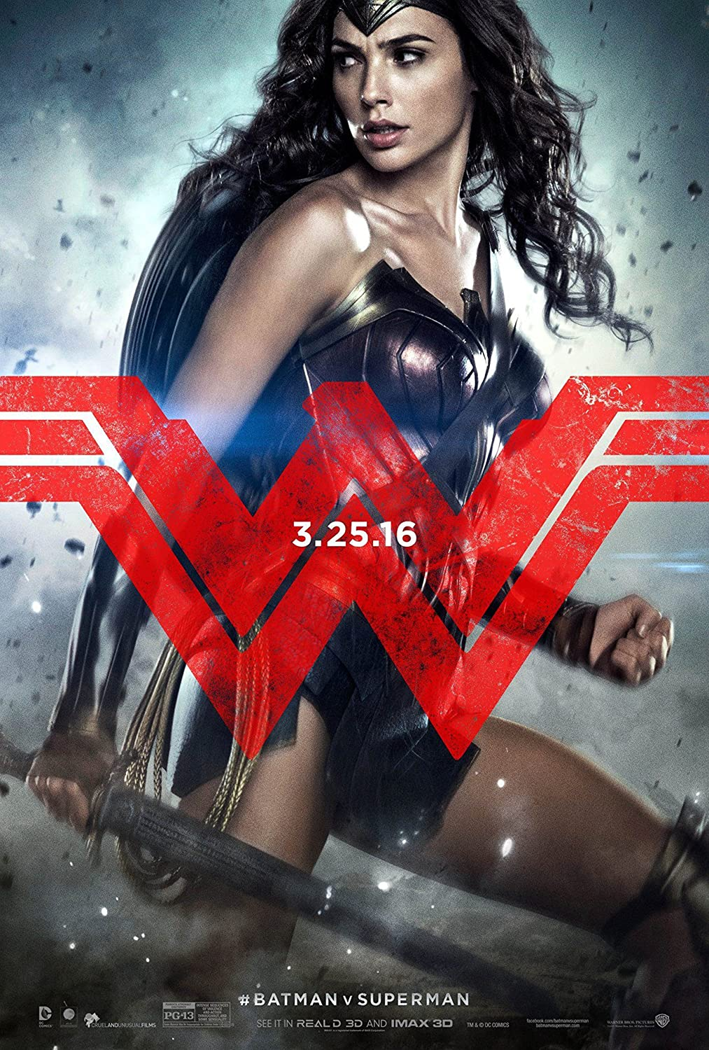Batman Vs Superman: Dawn Of Justice - Wonder Woman Poster