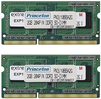【クリックでお店のこの商品のページへ】プリンストン DOS/V ノート用メモリ 4GB(2GBx2枚組) PC3-8500 DDR3-SDRAM (2Gbit/256x8) PDN3/1066-A2GX2