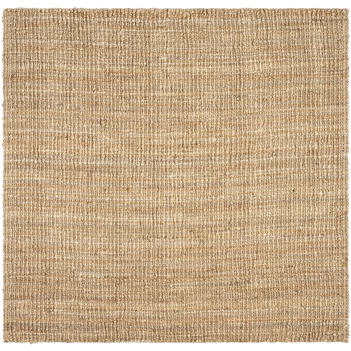 Safavieh Natural Fiber Collection NF447A Hand Woven Natural Jute Square Area Rug (8 Square)