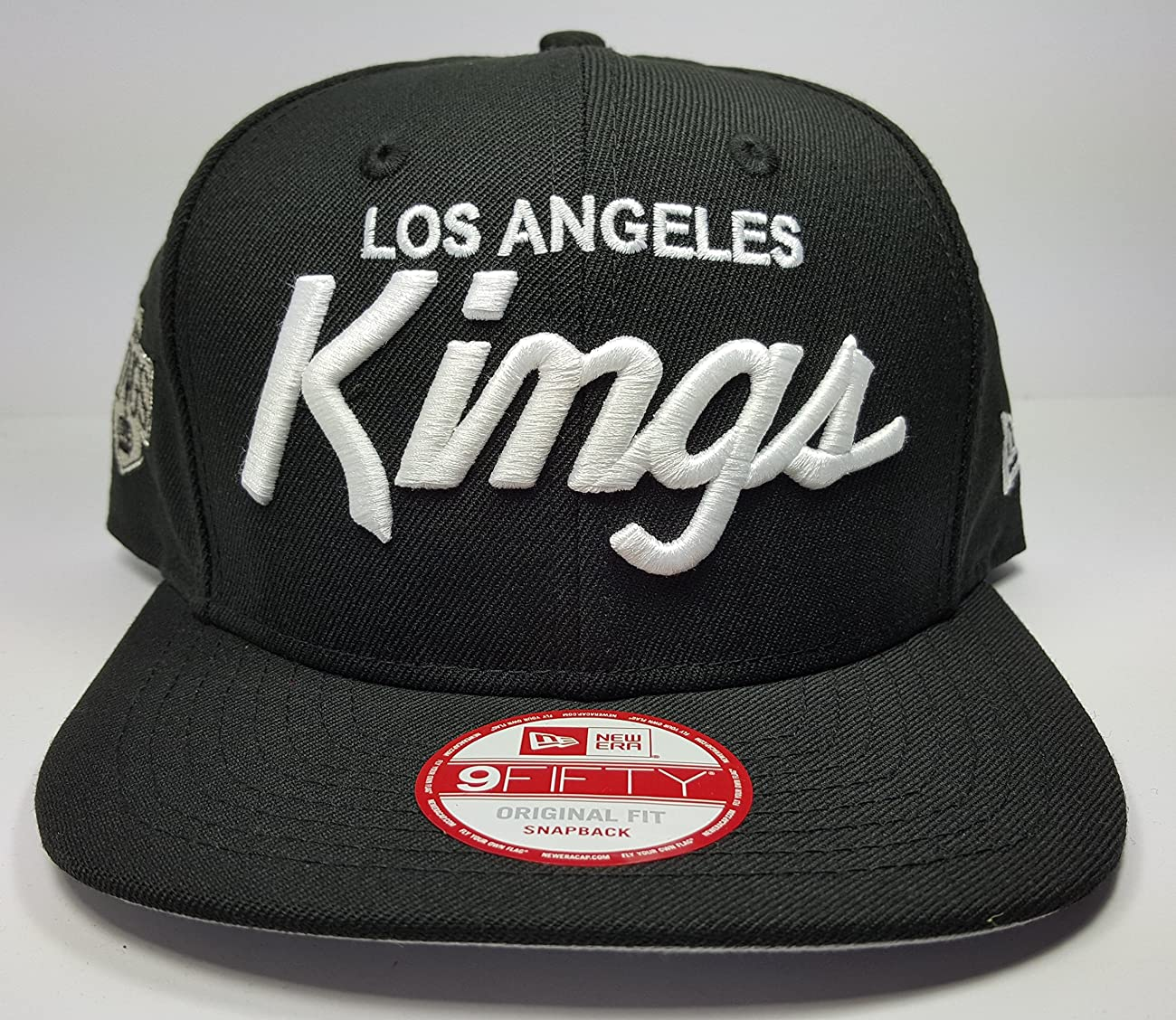 New Era Los Angeles Kings 9Fifty Black and White Vintage Script N.W.A Adjustable Snapback Hat NFL 2