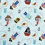 Babyville Boutique 35277 PUL Fabric, Little Pirates, 64-Inch x 6-Yard Bolt