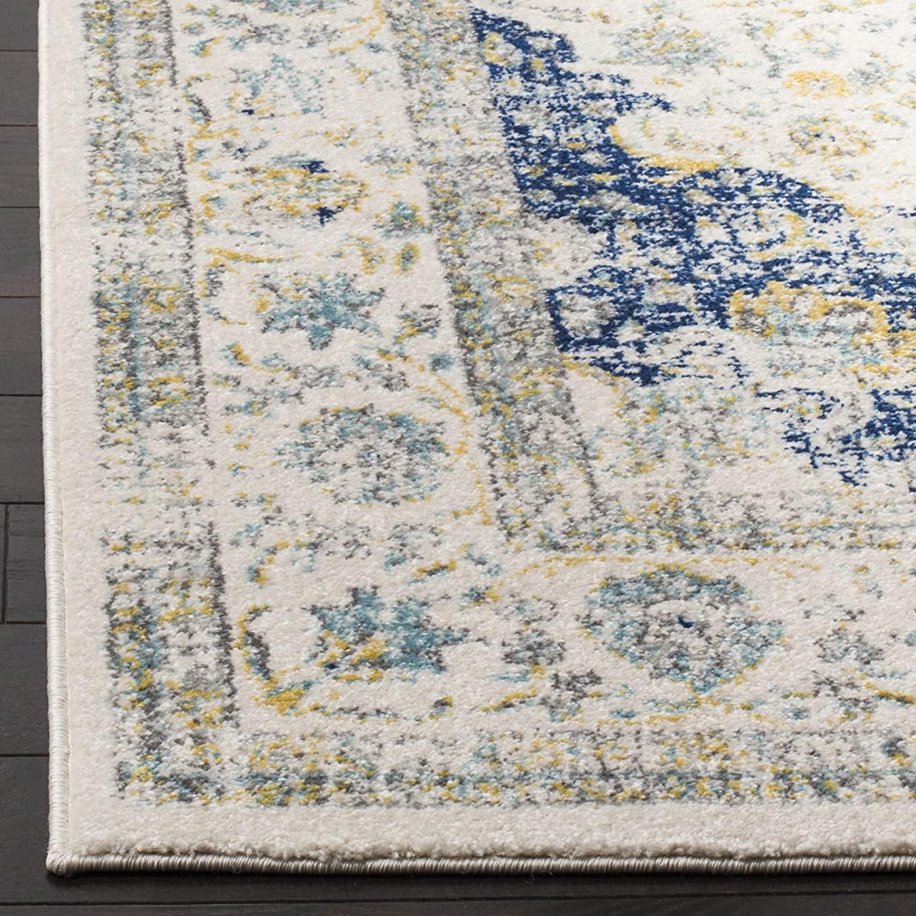 Safavieh Evoke Collection EVK220C Oriental Vintage Ivory and Blue Area Rug (9' x 12') 1
