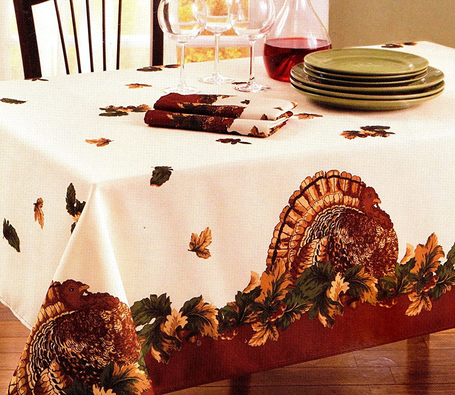 Thanksgiving fabric tablecloths thanksgiving wikii for Table 52 thanksgiving
