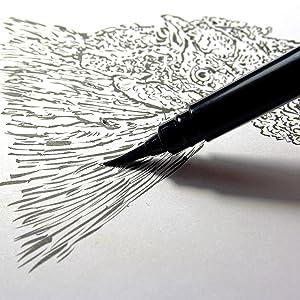 Pentel Arts Pocket Brush Pen, Includes 2 Black Ink Refills (GFKP3BPA)
