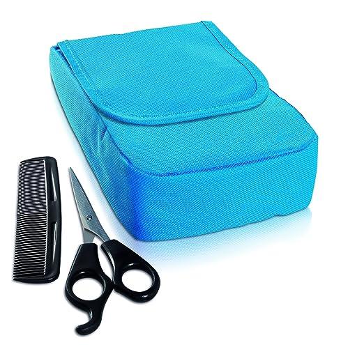 除理发器外还有一个存储包,一个发型梳,一个发剪,一个斗篷,一个清洁刷
