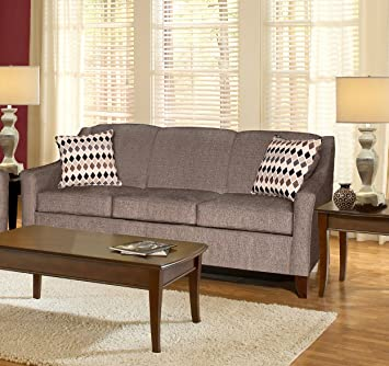 Chelsea Home Furniture Hilda Sofa, Sagittarius Granite/Montage Pewter Pillows