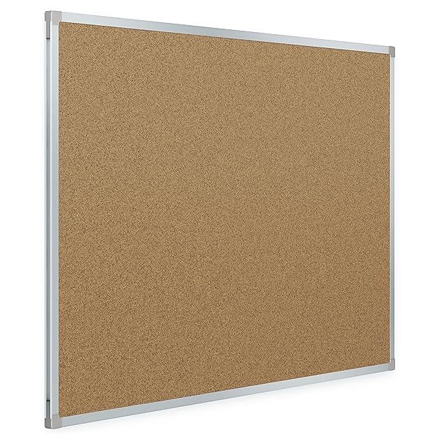 mead classic cork bulletin board 4 x 3 feet aluminum frame 85362 0034138853627 buy new. Black Bedroom Furniture Sets. Home Design Ideas
