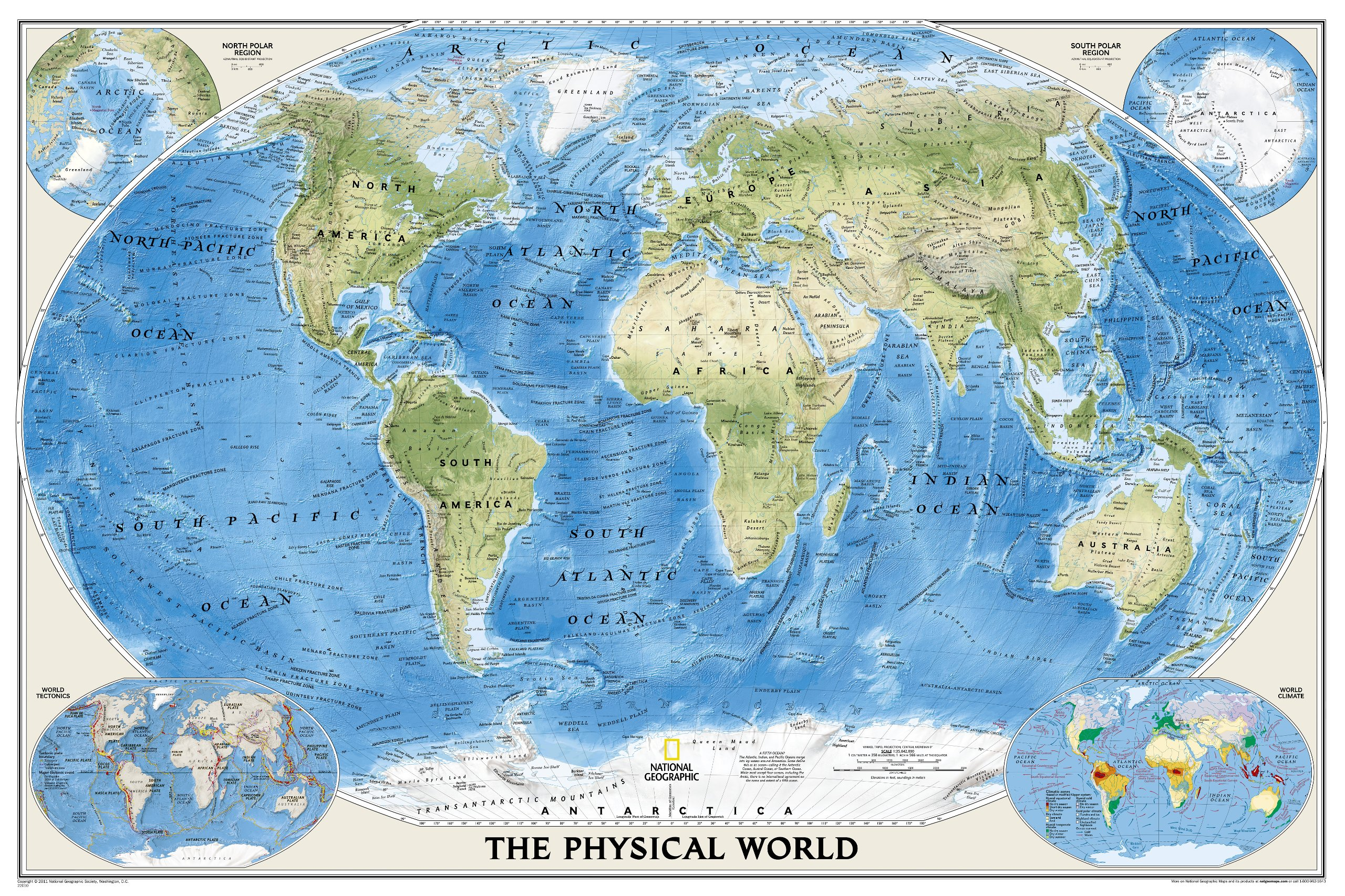 National Geographic Mapa Fizyczna Maps Pinterest - World physical map labeled