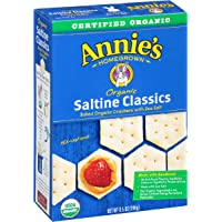 6-Pack Annie's Organic Saltine Classic Baked Crackers (6.5 oz)