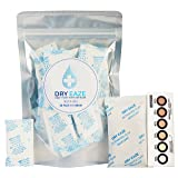 50 Pack x 5 Gram Silica Gel Packets Desiccant BONUS 50 Gram Activated Clay and 6 Dot Humidity Indicator Card