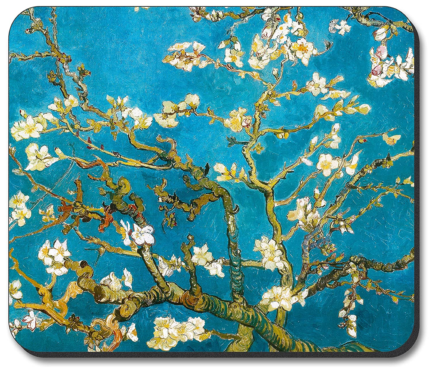 Art Plates® Brand Mouse Pad with Vincent Van Gogh - Almond Blossoms design