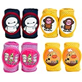 Baby Knee Pads Anti-Slip Walking Kneepads Adjustable Hook & Loop Strap Unisex for Boys Girls Infant Toddler Knee & Elbow Pads Memory Foam Pad Cushion Breathable Mesh Fabric Knee Pads for Babies (Color: Balala / Monkey)