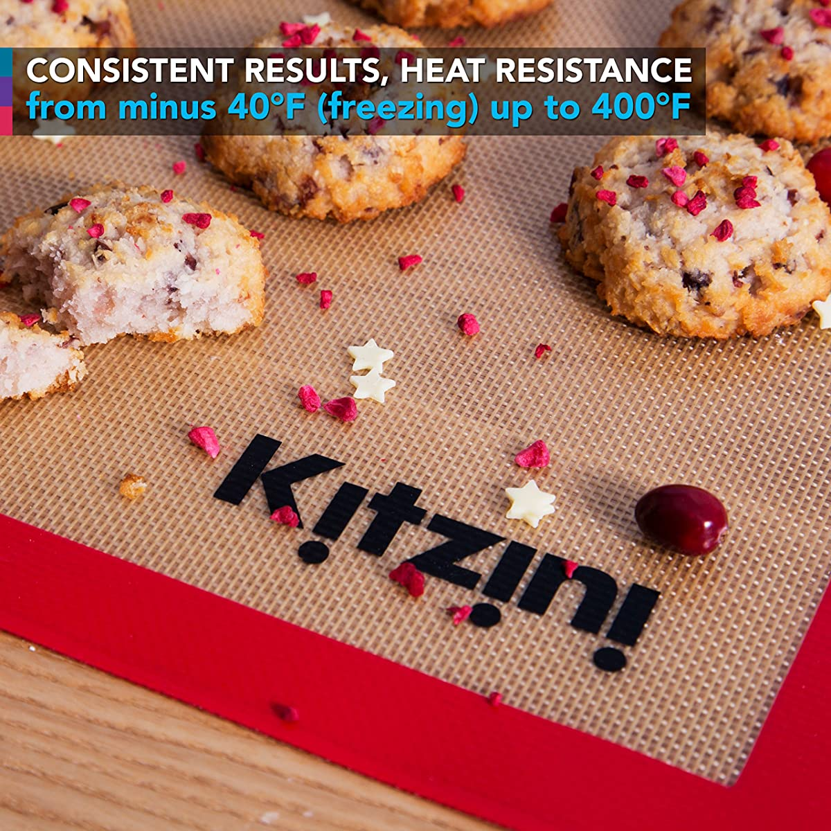 Silicone Baking Mat Set (2) Half Sheets - . Non Stick Cookie Sheets Professional Grade