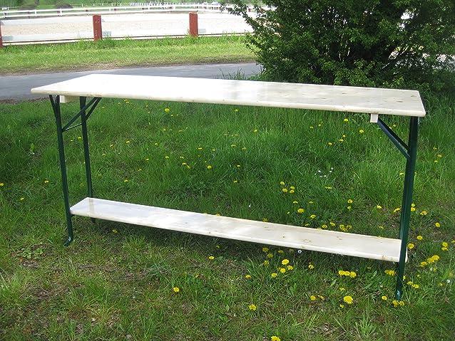 Kunibert - Tavolo con poggiapiedi, per feste e sagre, lunghezza 220 cm
