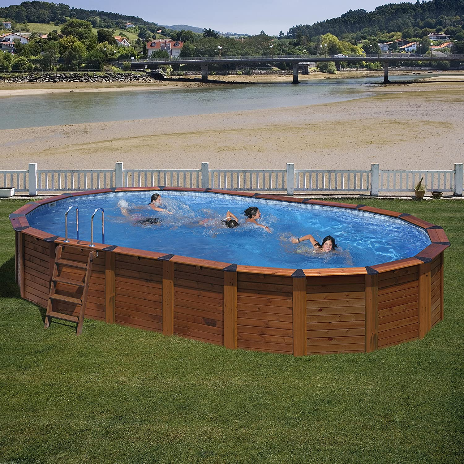 gre nature pool hawaii stahlwandpool 6,40×3,90×1,32m online kaufen