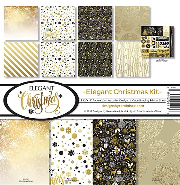 Reminisce Elegant Christmas Scrapbook Collection Kit