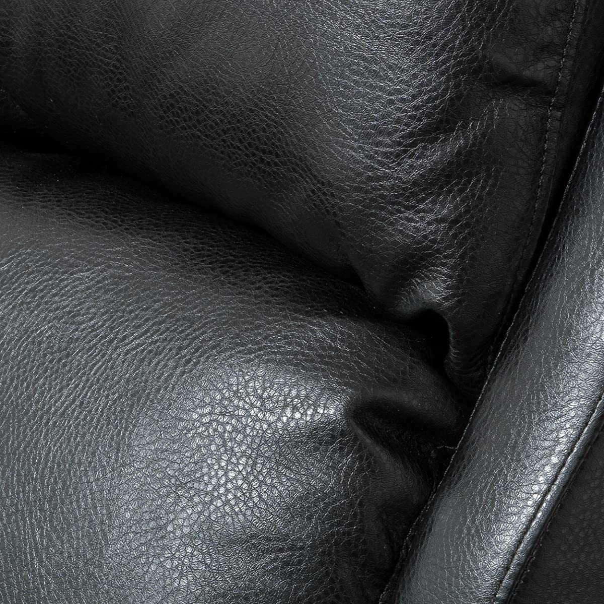 Lloyd Black Leather Recliner Club Chair