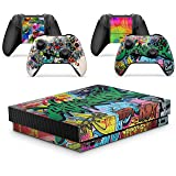 Gizmoz n Gadgetz GNG Graffiti Skins for Xbox One X XBX Console Decal Vinal Sticker + 2 Controller Set (Color: Graffiti)