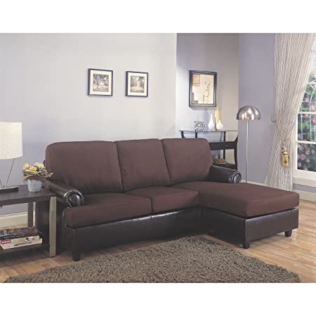 Coaster Home Furnishings 500605 Casual Sectional Sofa, Dark Brown