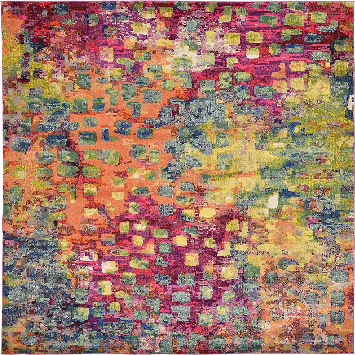 Modern Abstract Rugs Multi 9 10 X 9 10 Ft 300cm X 300cm