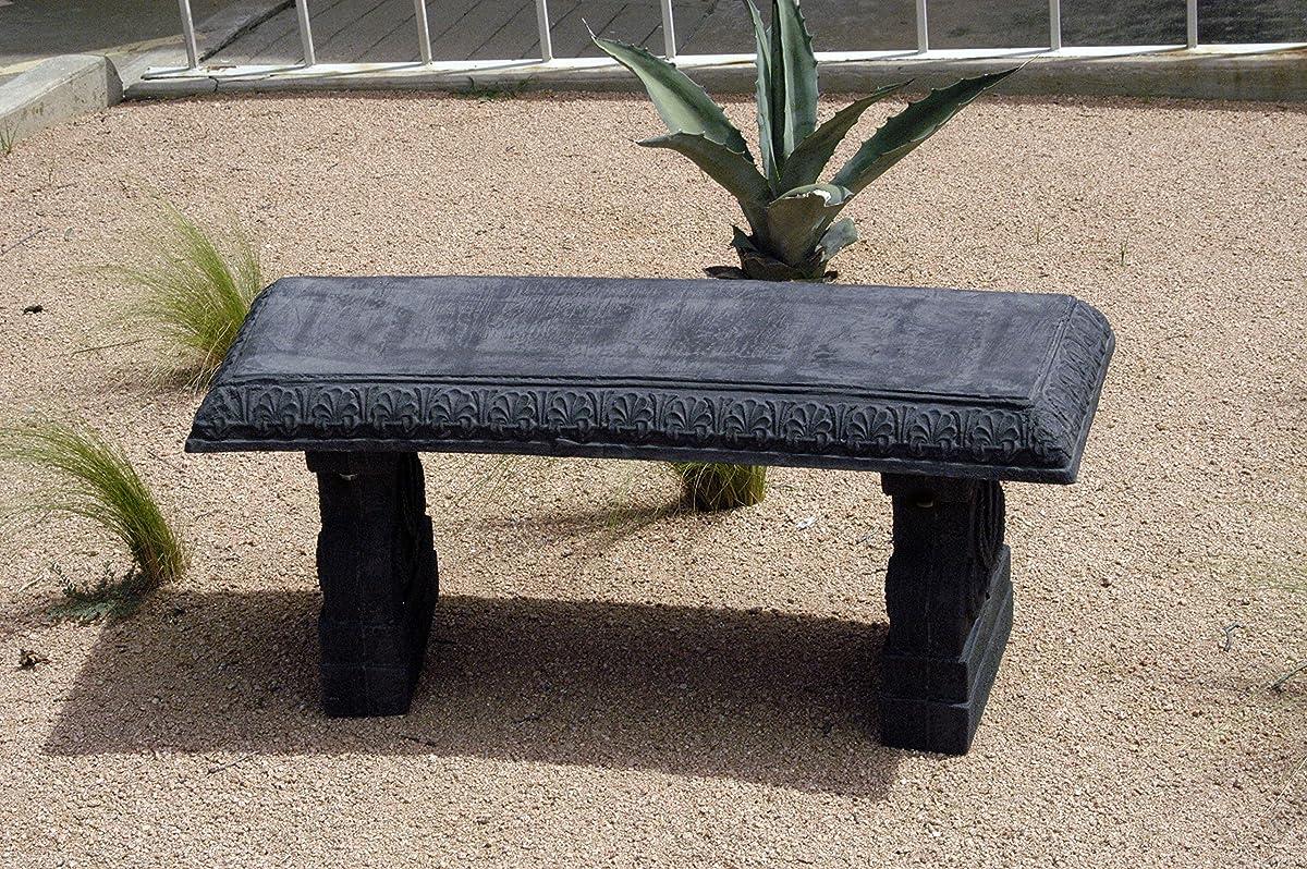 Exaco FM-800 Endura Clay Garden Bench, Charcoal Grey