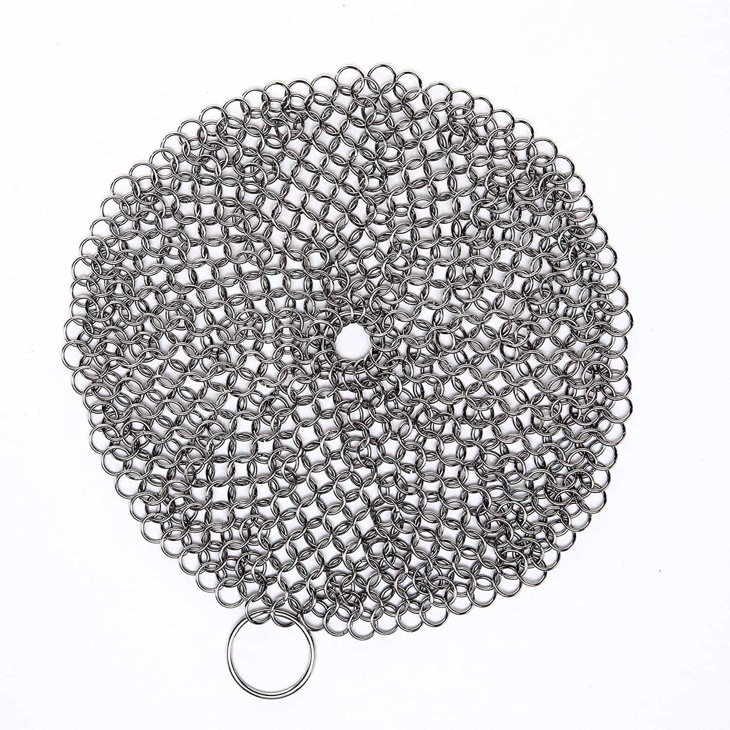 Stayin Round Cast Iron Cleaner XL 7x7 Premium Stainless Steel Chainmail Scrubber