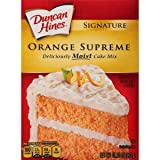 Duncan Hines Signature Cake Mix, Orange Supreme, 15.25 Ounce (Tamaño: 15.25 ounces)