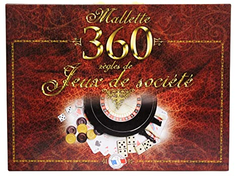 FERRIOT CRIC - 1580 - Mallette 360 jeux - - Marron