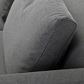 Hot Hot Hot Sale Adwood Cube Sofa 3 Sitzer Couch 202x92cm Anthrazit Stoff Prestige Inkl 2 Ra Ckenkissen Find Hot Hot Discount Mudstheg1