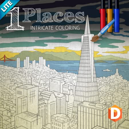 Intricate Coloring 1 Lite: Places [Download]
