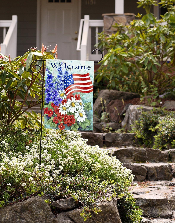 toland home garden patriotic welcome garden flag 112060