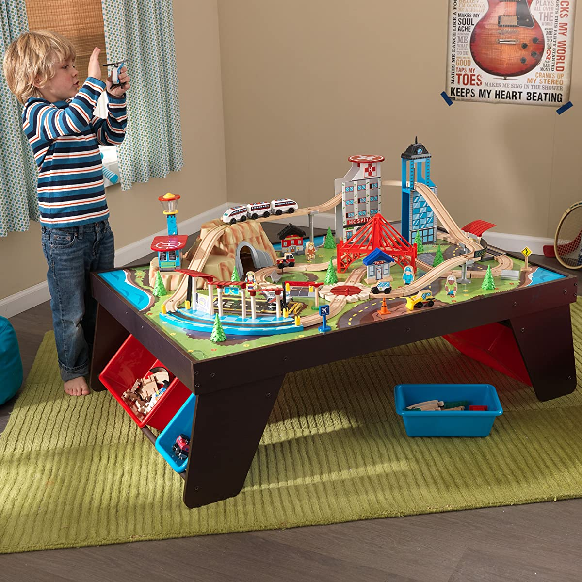 Kidkraft Aero City Train Set Amp Table