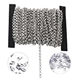 3.2mm Circular Stainless Steel Cable Chain Link in Bulk for Necklace Jewelry Making 6meters with Jump Ring Clasp (Tamaño: 3.2*3.2mm)