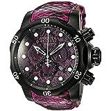 Invicta Men's 19003 Venom Analog Display Swiss Quartz Pink Watch (Color: Pink)