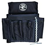 PowerLine Series 18 Pocket Electrician Tool Pouch Klein Tools 5719 (Color: Black Leather, Tamaño: 18-Pocket)