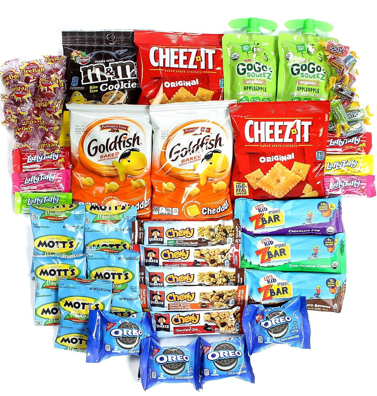 "Healthy and Delicious Snack Package ""Young at Heart"" Box of 50 Items"