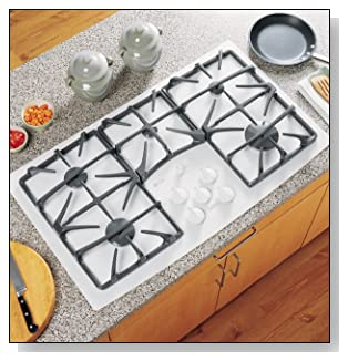 GE Profile JGP970TEKWW 36 Gas Cooktop 5 Sealed Burners, White
