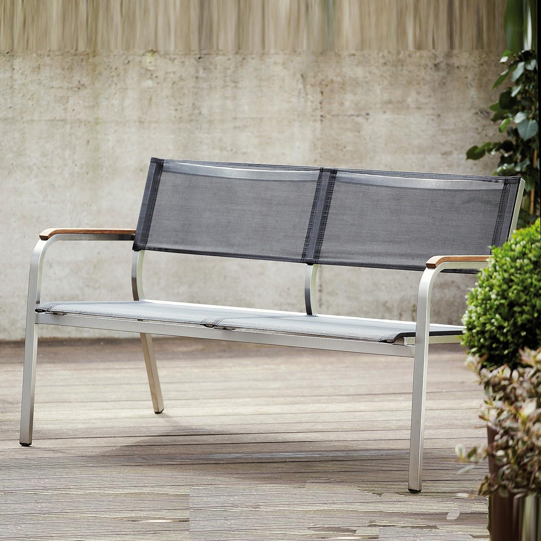 Lux XL Lounge Bank 2-Sitzer schwarz / 126 x 70 cm