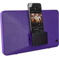 KitSound Fresh Alarm Clock Radio Docking Station with Lightning Connector (Purple)