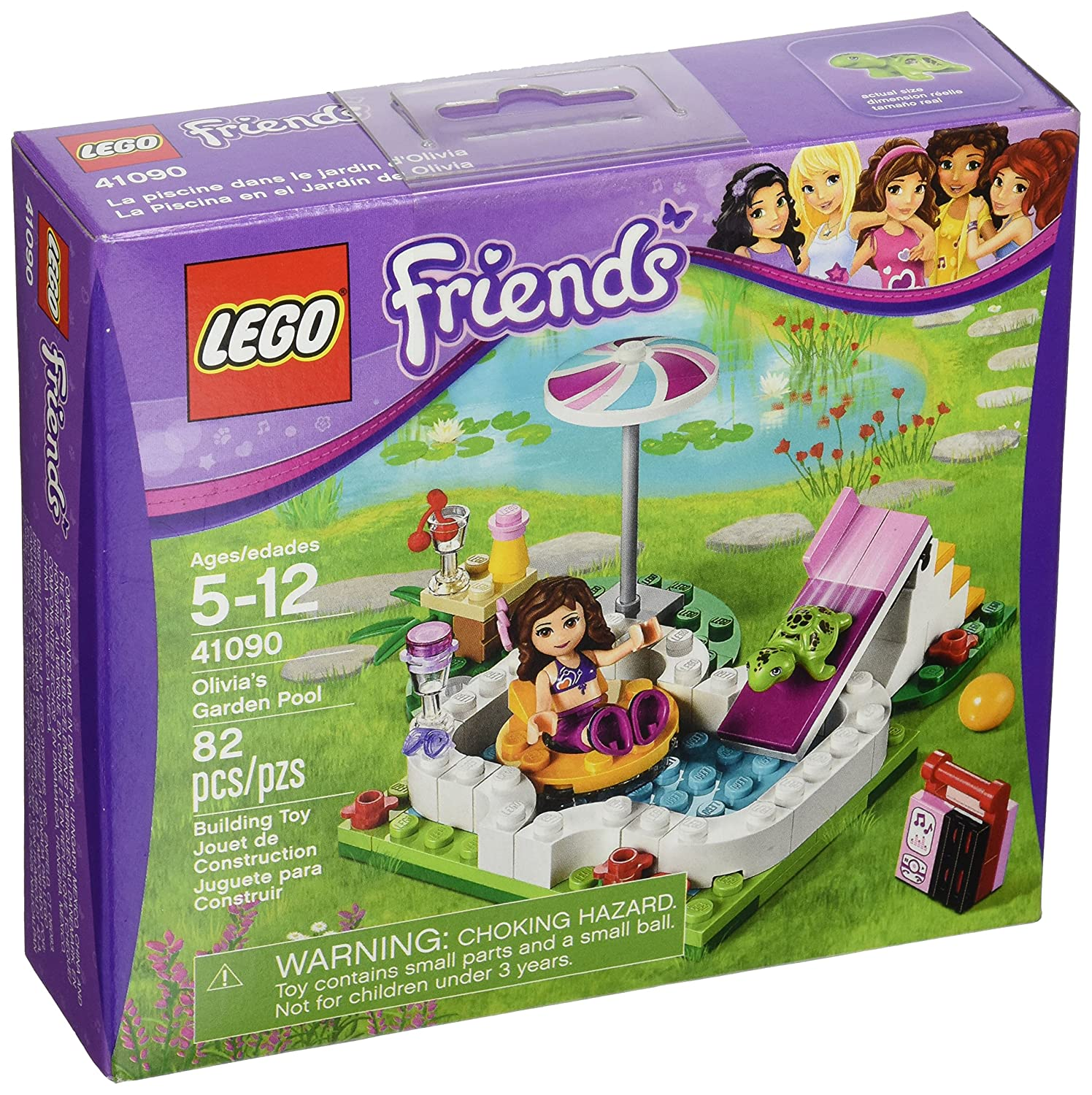 LEGO Friends 41090 Olivia's Garden Pool lego wear платье lego wear модель 2836761053