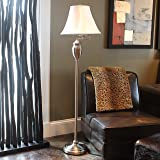 Décor Therapy PL3786 Floor Lamp, Brushed Steel (Color: Brushed Steel)
