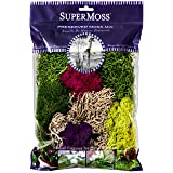 SuperMoss (23312) Moss Mix Preserved, 8oz (Color: 0, Tamaño: 200 in3 Bag (Appx. 8oz))