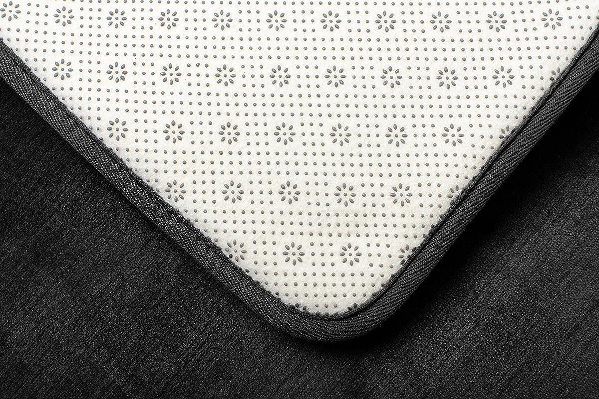 "Memory Foam Bathrug – Black Bath Mat, Set Of 2, Large 20"" x 32"", And A Small 17"" x 24"", Non Slip Latex Free Plush Microfiber. Comfortable, Beautiful and Maximum Absorbency."