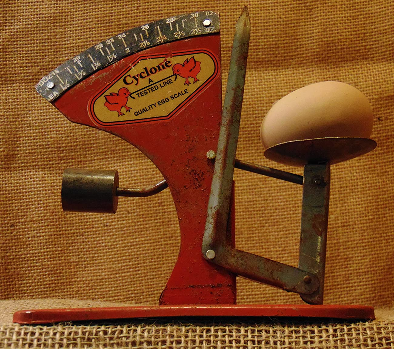 Egg Scale Poultry Antique Style Cyclone Hen Chicken Sizer Primitive #537 2